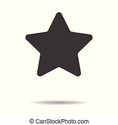 平ら, 星, 単純である, -, 隔離された, 背景, ベクトル, デザイン, 白, アイコン