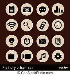 平ら, 普遍的, icons.