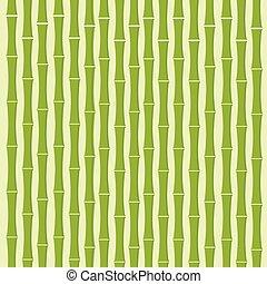 平ら, 木, ベクトル, 緑の背景, 竹