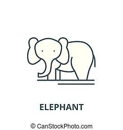 平ら, 概念, アウトライン, 印, イラスト, シンボル, vector., 象, アイコン, 線