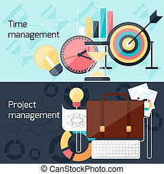 平ら, 概念, プロジェクト管理, デザイン, 時間