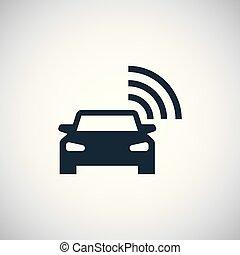 平ら, 概念, 単純である, 自動車, 要素, デザイン, 痛みなさい, アイコン