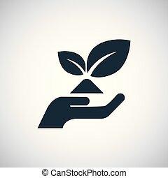 平ら, 概念, 単純である, 要素, エコロジー, デザイン, アイコン