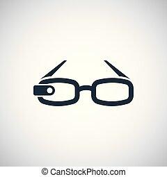 平ら, 概念, 単純である, 要素, デザイン, アイコン, 痛みなさい, ガラス