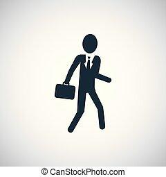 平ら, 概念, 単純である, 要素, デザイン, ビジネスマン, アイコン