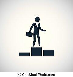 平ら, 概念, 単純である, 要素, デザイン, ビジネスマン, icon.