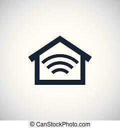 平ら, 概念, 単純である, 要素, デザイン, 家, 痛みなさい, アイコン