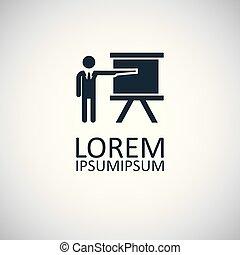 平ら, 概念, 単純である, 要素, デザイン, 教師, アイコン