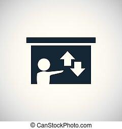 平ら, 概念, 単純である, 要素, 図, デザイン, 教師, アイコン