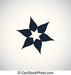 平ら, 概念, 単純である, 要素, 花, デザイン, アイコン