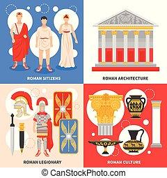 平ら, 概念, 古代のローマ