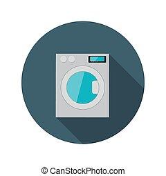 平ら, 概念, 洗浄, lon, イラスト, 機械, ベクトル, デザイン