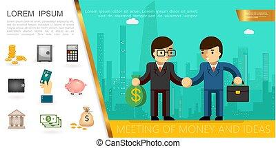 平ら, 概念, 財政, ビジネス