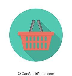 平ら, 概念, 買い物, lon, イラスト, ベクトル, デザイン, グロッシー