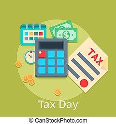平ら, 概念, 金融, ビジネス, 税, ベクトル, 背景, 支払い
