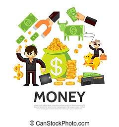 平ら, 概念, 金融
