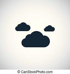 平ら, 概念, 雲, 単純である, 要素, デザイン, アイコン