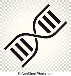 平ら, 概念, dna, illustration., ビジネス, 単純である, medecine, 分子, ...