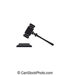平ら, 正義, isolated., 法廷, stand., シンボル。, イラスト, 判決, ビルズ, 裁判官, ベクトル, 文, 小槌, アイコン, ハンマー, オークション, design.