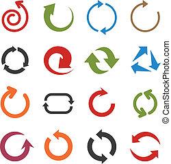 平ら, 矢, icons.