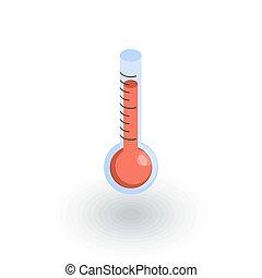 平ら, 等大, ベクトル, 装置, 天候, 温度計, 薬, icon., ∥あるいは∥, 3d