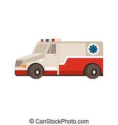 平ら, 緊急事態, 自動車, ベクトル, 救急車, 漫画