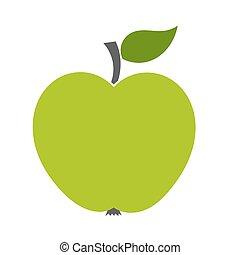 平ら, 緑のリンゴ, アイコン