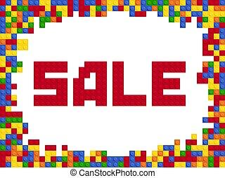 平ら, 色, セール, プラスチック, デザイン, テンプレート, コンストラクター, ブロック