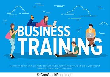 平ら, 訓練, 概念, リモート, ビジネス, 働いている人達, ラップトップ, 男性, 若い, 装置, work., ベクトル, growth., チーム, 使うこと, illustration., 専門家, 女性