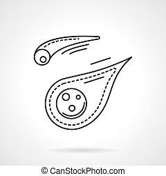 平ら, 隕石, ベクトル, デザイン, 線, アイコン