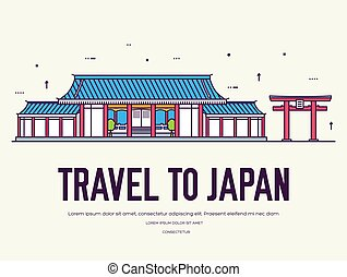 平ら, architecture., concept., 日本語, デザイン, 背景, 日本