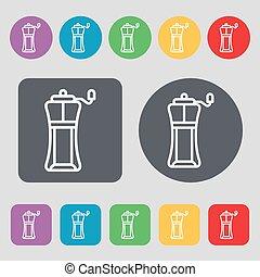 平ら, buttons., セット, 有色人種, アイコン, 印。, スポーツ, 水, ベクトル, びん, 12, design.