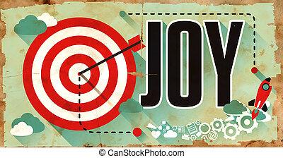 平ら, concept., design., ポスター, 喜び
