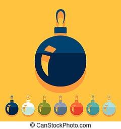 平ら, design:, クリスマスボール