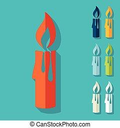 平ら, design:, クリスマス, ろうそく
