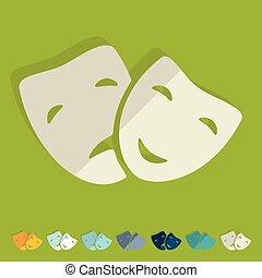 平ら, design:, マスク