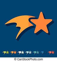 平ら, design:, 星, クリスマス