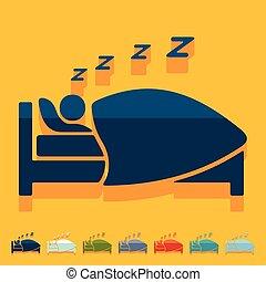 平ら, design:, 睡眠