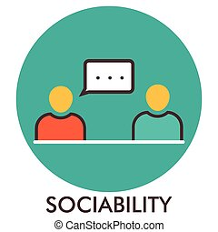 平ら, elements., concept., communication., sociability., message., デザイン, 線, アイコン, icon., design.