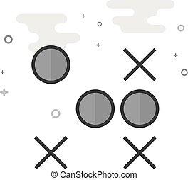 平ら, grayscale, アイコン, -, 作戦, ゲーム