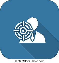 平ら, headhunting, ビジネス, concept., icon., design.