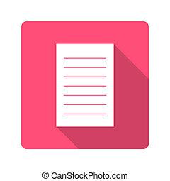 平ら, icon., ノート, デザイン