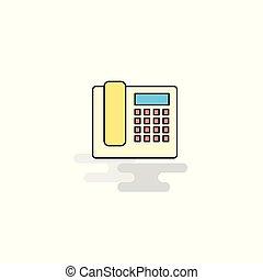 平ら, icon., ベクトル, 電話