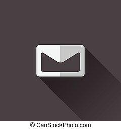 平ら, icon., 封筒, デザイン