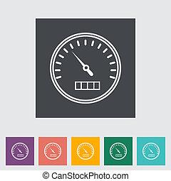 平ら, icon., 速度計