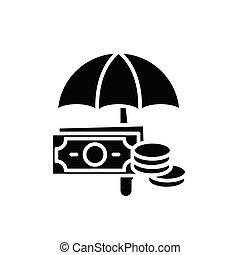 平ら, illustration., 印, concept., シンボル, ベクトル, 黒, 口座, 沖合いに, アイコン
