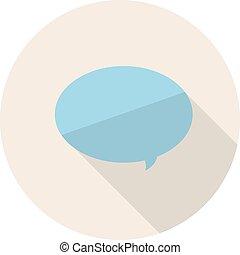 平ら, illustration., bubble., 単純である, ベクトル, スピーチ, デザイン, アイコン