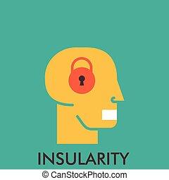 平ら, mouse., elements., insularity., concept., lock., デザイン, 終わり, 線, アイコン, icon., secretive., design.