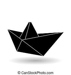 平ら, origami, イラスト, デザイン