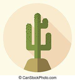 平ら, saguaro, デザイン, アイコン